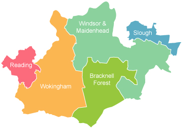 Carpet fitter in Berkshire map